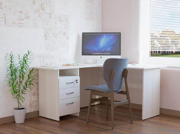 Угловой стол с тумбой Рубин 40 3 (1500х1350х750)