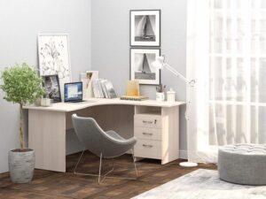 Угловой стол с тумбой Рубин 40 6 (1500х1500х750)