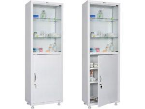 Медицинский шкаф HILFE МД 1 1760/SG (1750/1850x600x400)
