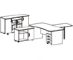 """Набор мебели для руководителя """"ЛИДЕР"""" (5 предметов)"""