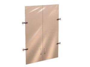 Двери стеклянные 3 секции 41.38 700x1110