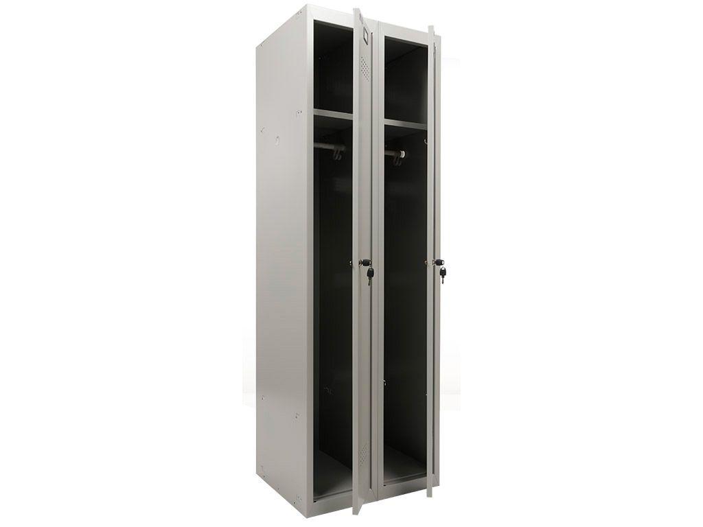 Шкаф для раздевалки ПРАКТИК УСИЛЕННЫЙ ML 21-60 (ML-11-30 + ML-01-30) (1830x600x500)