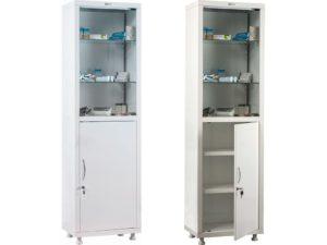 Медицинский шкаф HILFE МД 1 1650/SG (1655/1755x500x320)
