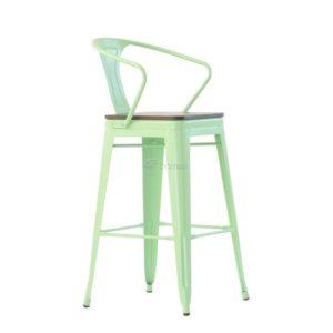 Барное кресло Barneo N-244 Tolix Wood Style