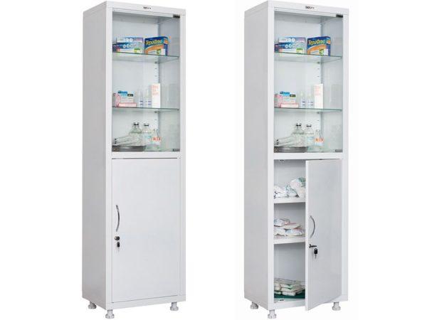 Медицинский шкаф HILFE МД 1 1657/SG (1655/1755x570x320)