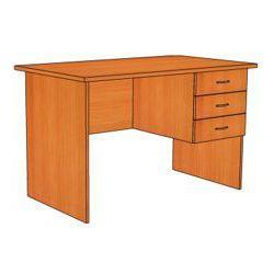 Стол письменный с 3 ящ. правый С225 (1200х700х750)