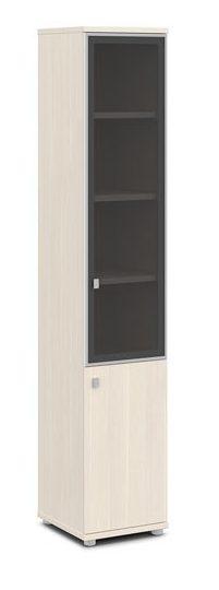 Шкаф со стеклом в алюминиевом профиле V-505 л/пр 412x440x2195