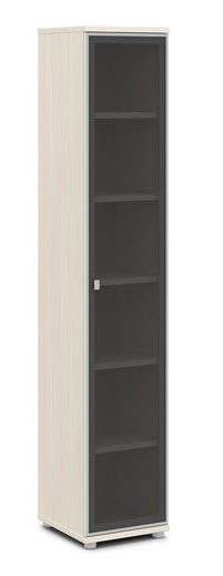 Шкаф со стеклом в алюминиевом профиле V-506 412x440x2195