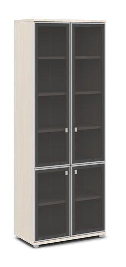 Шкаф со стеклом в алюминиевом профиле V-612 820x440x2195