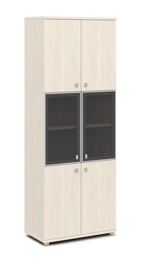 Шкаф со стеклом в алюминиевом профиле V-613 820x440x2195