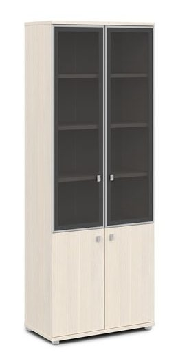 Шкаф со стеклом в алюминиевом профиле V-614 820x440x2195