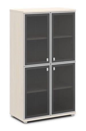 Шкаф со стеклом в алюминиевом профиле V-669 820x440x1490