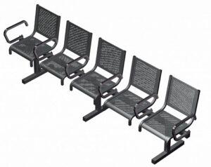 Секция из 5-ти стульев СП1.115 (2715х525х865)