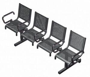 Секция из 4-х стульев СП1.114 (2177х525х865)