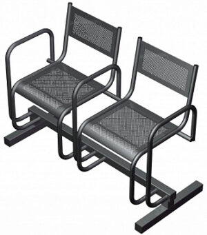 Секция из 2-х стульев СП2.112 (1125х483х800)