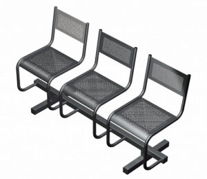 Секция из 3-х стульев СП2.103 (1511х483х800)