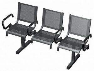 Секция из 3-х стульев СП1.113 (1639х525х865)