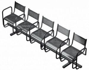 Секция из 5-ти стульев СП2.115 (2737х483х800)