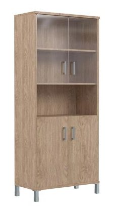 Шкаф высокий с тонированным стеклом B430.10 900х450х2054