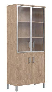 Шкаф высокий со стеклом B430.4 900х450х2054