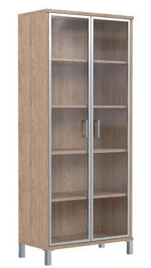 Шкаф высокий со стеклом B430.8 900х450х2054
