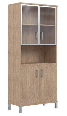 Шкаф высокий с тонированным стеклом B430.9 900х450х2054