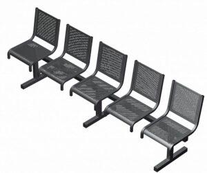 Секция из 5-ти стульев СП1.105 (2565х5520х865)
