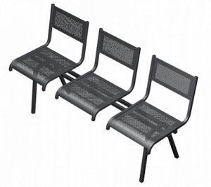 Секция перфорированная из стульев СП3.203 (1350х520х767)