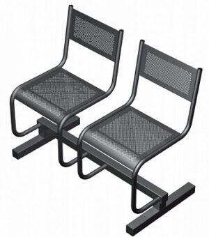 Секция из 2-х стульев СП2.102 (973х483х800)