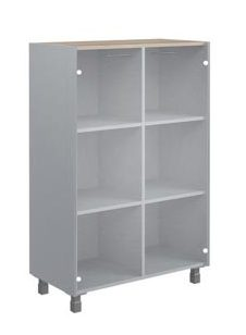 Шкаф средний со стеклянными дверьми OMC 87.2 874х450х1329
