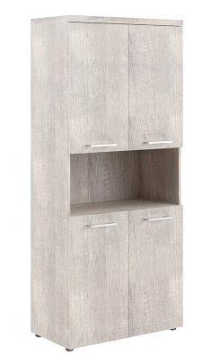 Шкаф с 2-мя комплектами глухих малых дверей и топом THC 85.4 850х430х1930