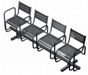 Секция из 4-х стульев СП2.114 (2199х483х800)