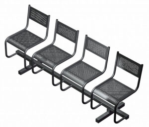 Секция из 4-х стульев СП2.104 (2049х483х800)