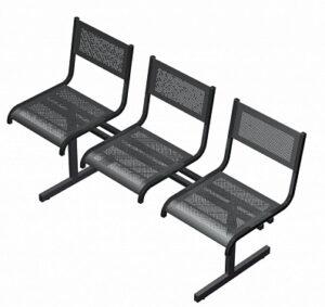 Секция перфорированная из стульев СП3.103 (1350х520х767)