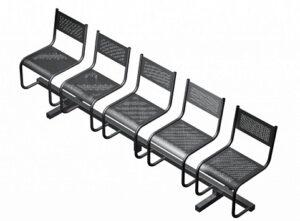 Секция из 5-ти стульев СП2.105 (2587х483х800)