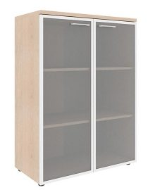 Шкаф со стеклянными дверьми в алюминиевой рамке с топом XMC 85.7 850х410х1165