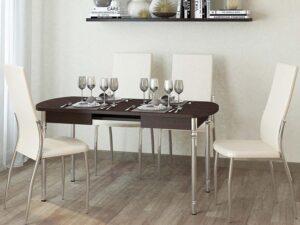 Обеденный стол Орфей 10 Венге (1120/1520/1920x750x750)