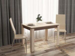 Обеденный стол Орфей 16.1 Кобург-Ясень Шимо (1120/1520/1920x750x760)