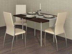 Обеденный стол Орфей 1.2 Венге (900/1200x600/900x750)