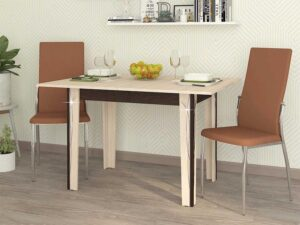 Обеденный стол Орфей 23.10 Кобург-Венге (900/1200x600/900x760)
