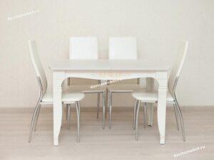 Обеденный стол Орфей 25.10 Астрид-Ваниль (1200/1700x750x760)