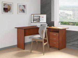 Угловой стол с тумбой Рубин 41 10 (1500х1500х750)
