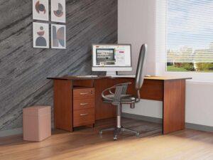 Угловой стол с тумбой Рубин 41 11 (1500х1350х750)