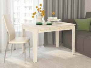 Обеденный стол Орфей 27.10 лайт Астрид (1100x750x750)