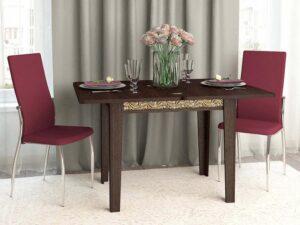 Обеденный стол Орфей 26.10 лайт Венге (870/1260x630/870x750)