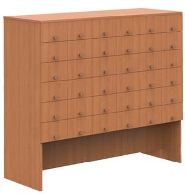 Шкаф каталожный (с 36 ящиками) (1264х456х1150)