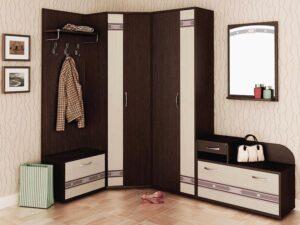 Угловой набор мебели для прихожей Триумф 3 (1350х2250)