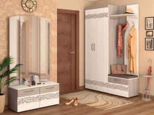 Угловой набор мебели для прихожей Мэри 5 (900х1400)