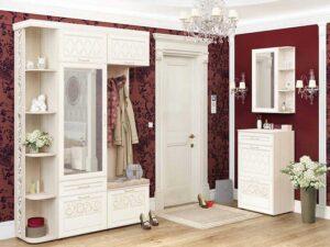 Угловой набор мебели для прихожей Тиффани 4 (1520х600)