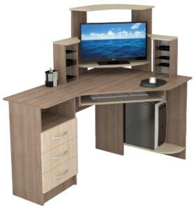 Стол компьютерный Грета 7 (1335х1300х900)